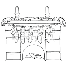 christmas stocking clip art black and white. Perfect White Black And White Fireplace With Mantel Holding Christmas Stockings On Stocking Clip Art And