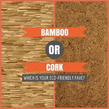 which ecofriendly flooring do you prefer bamboo or cork