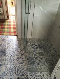 Patterned Floor Tiles Bathroom Skyros Delft Blue Wall And Floor Tile Wall Tiles From Tile Mountain