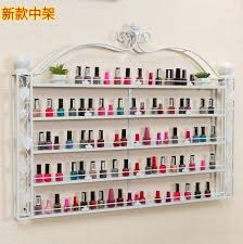 Wrought Iron Art Display Stands Impressive Wrought Iron Nail Art Display Rack Wall Mounted Cosmetic Shop Wall