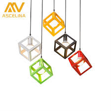 ascelina led pendant lights nordic vintage loft pendant light with square lamp shade lamps for living room lighting e27 85 260v pendant lights
