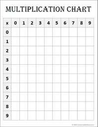 Multiplication Chart Worksheet Free Math Printable Blank Multiplication Chart