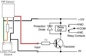 convert external pir to low voltage reuk co uk wiring diagram for the additional electronics for an external pir sensor modified for low voltage 12vdc