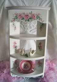 Shabby Chic Corner Shelves Simple Shabby Pink Roses Corner Shelf Chic Vintage Style Corner Flickr