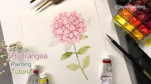 how to paint a hydrangea for beginners easy painting tutorial