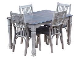 Henrys Fork Table Set Grey Whiteglaze