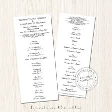 Wedding Schedule Template Day Of Schedule Printable Wedding Program Template Download 15