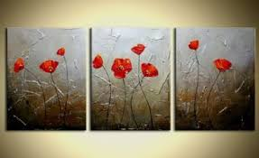 wild poppy ii modern canvas art wall decor floral oil painting wall art with on canvas floral wall art with wild poppy ii modern canvas art wall decor floral oil painting wall