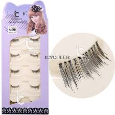 icycheer 5 pairs makeup half eyelashes mini conner lashes false accent lengthen eye lash
