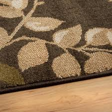 leaf pattern area rugs far fetched brown rug with green leaves
