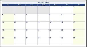 Printable Editable March 2018 Calendar Maxcalendars Pinterest