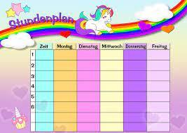 Ninjago bilder zum ausdrucken farbig. Stundenplan Einhorn Regenbogen Kostenloses Bild Auf Pixabay