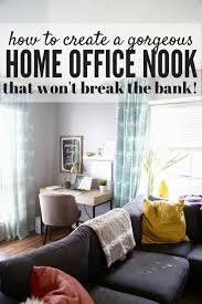 create a home office. This Home Office Nook Is So Gorgeous, Simple, And Affordable! Click Through The Create A R