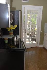 Single patio doors Upvc Kitchen Tour Courtney And Andys Cottage Galley Like The French Door To Patio Pinterest Single French Door Perfect From Kitchen To Deck Cute Little