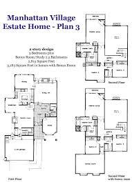 Manhattan Village Estate Home Plan 3 FloorplanEstate Home Floor Plans