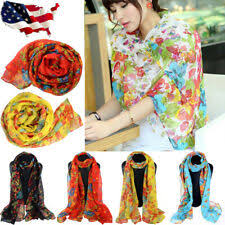 Unbranded <b>Poppy Flower</b> Floral Scarves & Wraps for Women for ...