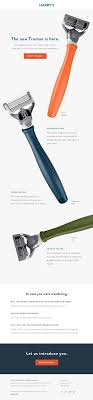 best images about email design inspiration introducing our new truman razor really good emails