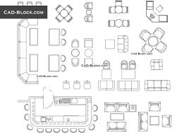 furniture for bar restaurant cad blocks autocad file