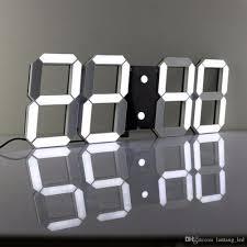 large modern design digital led wall clock big creative vintage watch home decoration decor alarm temperature round clocks for walls round digital wall