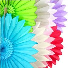 2018 25cm tissue paper fan diy crafts hanging wedding supplies birthday party decorations kids decoupage home decorative from tanzhilian 6 67 dhgate com
