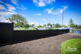 black vinyl privacy fence. Black PVC Vinyl Privacy Fencing Panels From Illusions Fence Are The Perfect Backyard Idea C