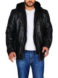 leather jacket hoo