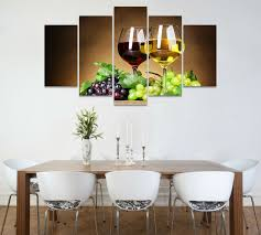 5pcs art hd print wine glasses painting modern home decor dining room print wall art painting 5 piece canvas art in painting calligraphy from home  on wine and dine canvas wall art with 5pcs art hd print wine glasses painting modern home decor dining