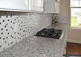 elegant white glass backsplash tile ideas