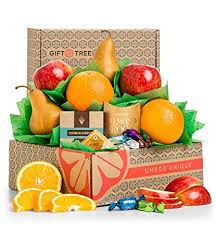 gifttree harvest fruit and snack gift box includes delicious apples oranges pears