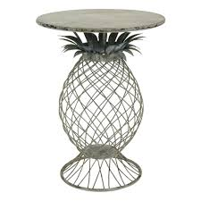 bombay outdoors kailua pineapple metal outdoor side tablea