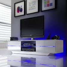 5 Piece Display Cabinets <b>TV Wall Unit Set</b> with LED Lighting High ...