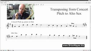 Tenor Sax Transposition Chart Transposing Made Easy For The Alto Saxophone
