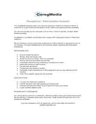 resume for receptionist administrative assistant cipanewsletter dental reception resume s dental lewesmr