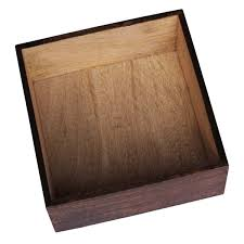 """Decorative Planter Boxes Wholesale Brown Wood Planter Container 100x100100"""" Square For Indoor 52"""