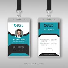 Creative Employee Id Card Template Vector Premium Download
