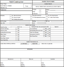Method Of Statement Sample Cable Tray Inspection and Testing Form Electric Mechanical 59