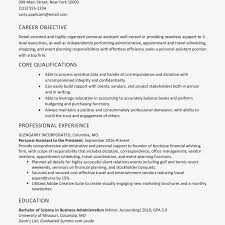 Personal Assistant Resume Sample And Skills List