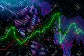Creative Forex Chart Background With Globe International Business