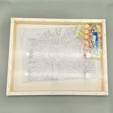 Tranh tự tô màu sơn dầu kỹ thuật số DIY hoa cỏ - Mã HL0469 Cúc trắng - Tranh  sơn dầu Thương hiệu OEM