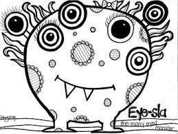 Help him and his ocean friends find the hidden objects in the while young kids view coloring pages as nothing more than a fun activity, parents understand there. Many Eyes Monster Coloring Page By Koolkat S Art Bin Tpt