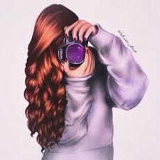 Girl in photography oxox curly hair ❤ ❤ ❤ love girly things ... | Beautiful  girl drawing, Digital art girl, Cute girl drawing