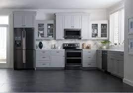 Kitchen Darker Stainless Steel Appliances Via Samsung Black Appliances Kitchen Stainless Steel Kitchen Appliances Kitchen Flooring