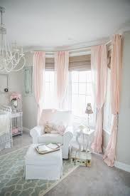 gray and pink elegant nursery