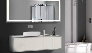 designs lighted makeup and rated miusco diy bathroom conair medicine led gold desk cabinet beveled tray