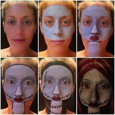 sally nightmare before makeup tutorial photo step by steps