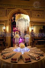 acrylic crystal chandelier centerpiece tall crystal table centerpieces flower stand 5 tier table chandelier wedding decoration