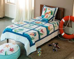 Buy Baby Quilts Online at Maddhome & Sea Animal Patchwork Applique Embroidered Baby Quilt set ... Adamdwight.com
