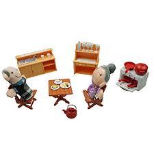 Kids dollhouse furniture Miniature Momoonnon Miniature Plastic Dollhouse Furniture Set For Kids Including Diy Dollhouse Kitchen Accessories With Sink Amazoncom Amazoncom Momoonnon Miniature Plastic Dollhouse Furniture Set For