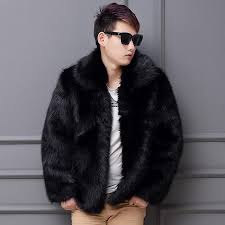 2019 best ing men 2017 new winter black fashion longhaired faux fur coat fox fur turn down collar full coats men jacket from hoto 113 07 dhgate com