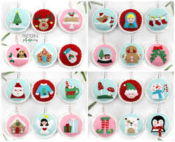 Felt Christmas Ornament Patterns Enchanting Felt Christmas Ornament Patterns 48 Advent Ornament Pattern DIY